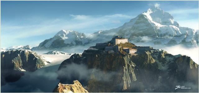 Tibet Illusration